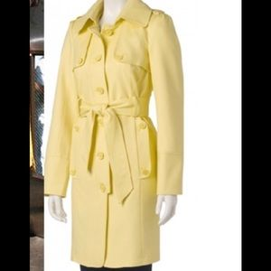 The Limited yellow trench belted  coat jacket S